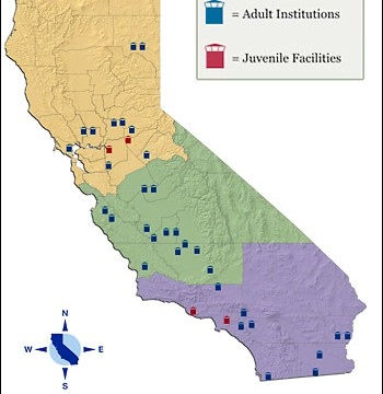 CDCR map of California Prisons