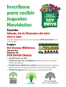 Toy Drive Spanish