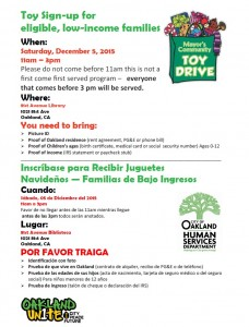 Toy Drive Sign-up