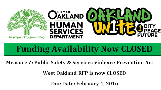 West Oakland RFP CLOSED
